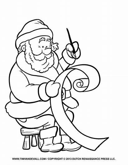 Coloring Santa Clip Letter Template Printable His