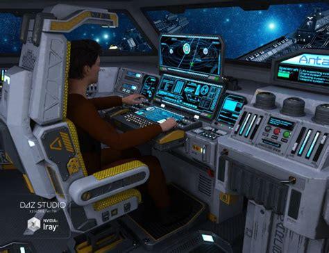 sci fi cockpit interior  models  poser  daz studio