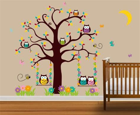 Wandtattoo Kinderzimmer Eule by Wandtattoo Kinderzimmer Eulen Im Baum Wandsticker De