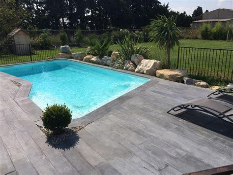 piscine bois sans dalle beton lot de 17 76 m 178 de lame aspect bois 120 x 20 cm quot ton gris quot 60073