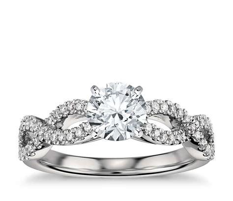 Infinity Twist Micropave Diamond En Ement Ring In