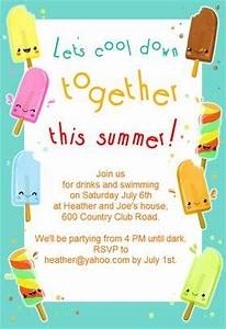 Create Invites Online Free Printable Popsicle Party Pool Party Invitation Template Free