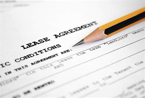 lease a what clauses can be in a rental agreement or lease