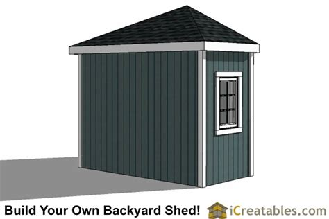 sided corner shed plans