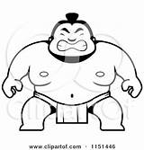 Sumo Crouching Coloring Cartoon Guy Clipart Wrestler Thoman Cory Outlined Vector Pages 2021 Template sketch template