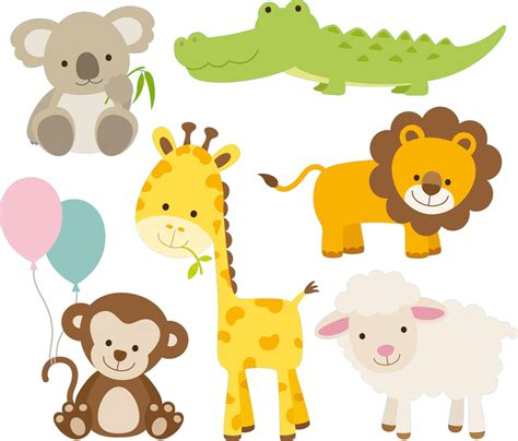 Vinilos folies : Kit Vinilo decorativo infantil 6 animales