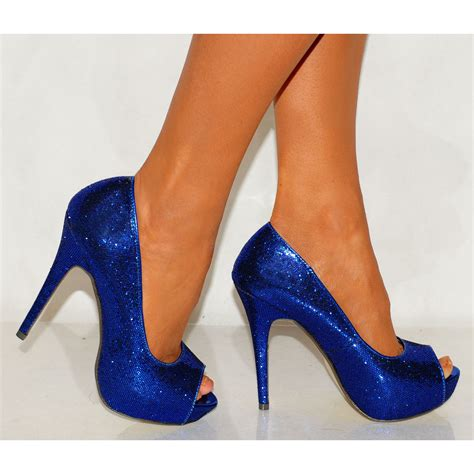 royal blue sparkly heels heels zone