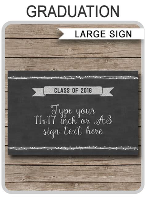 printable graduation party sign graduation decorations