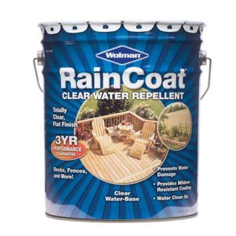 Wolman Raincoat Deck Stain by Wolman 5 Gal Raincoat Clear Water Repellent Sealer 12365