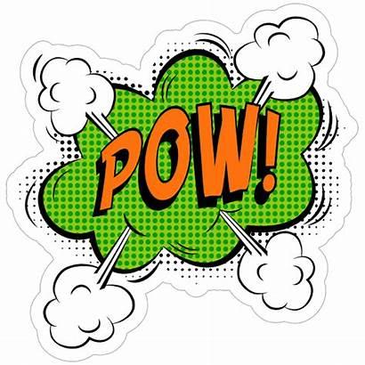 Comic Pow Stickers Sticker Superhero Decals Clipart