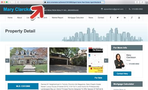 how can i redirect my mls listing from realtor ca to my