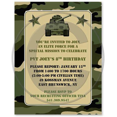army birthday invitations camouflage military army