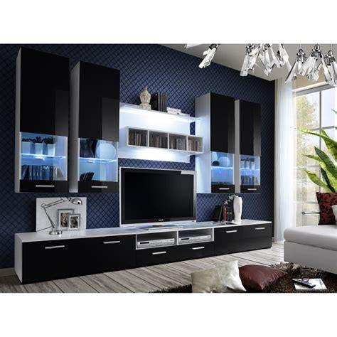 gautier canapé meuble de salon tv beta complet design led achat