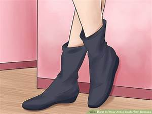 Ankle Boots Zum Kleid : how to wear ankle boots with dresses with pictures wikihow ~ Frokenaadalensverden.com Haus und Dekorationen