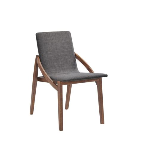 chaise tissu et bois lot 2 chaises design tissu et bois
