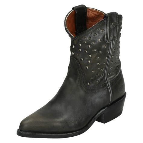 ladies biker boots ladies harley davidson cowboy biker boots kira ebay