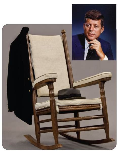 jfk rocking chair auction important items pertaining to f kennedy and other