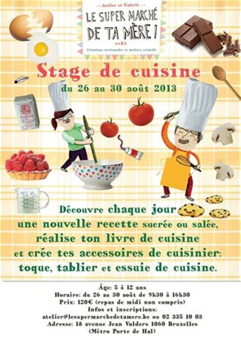 stages de cuisine stage de cuisine pour les 5 à 12 ans du 26 au 30 août atelier galerie le marché de