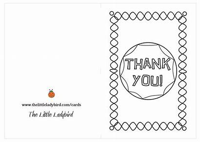 Thank Coloring Card Template Cards Pages Printable