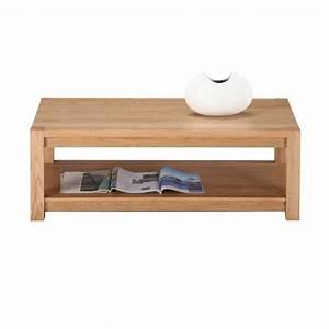 Table Basse Chene Clair : table basse rectangle ch ne clair 120 cm maison et styles ~ Teatrodelosmanantiales.com Idées de Décoration