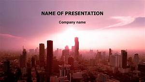 Microsoft Powerpoint Themes 2010 City Sunrise Powerpoint Template For Impressive