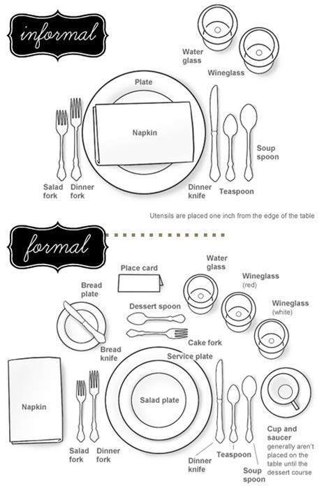 set  formal  informal table todays creative life
