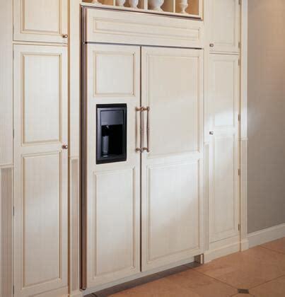 ge monogram zisbdr side  side refrigerator   cu ft capacity  panel ready