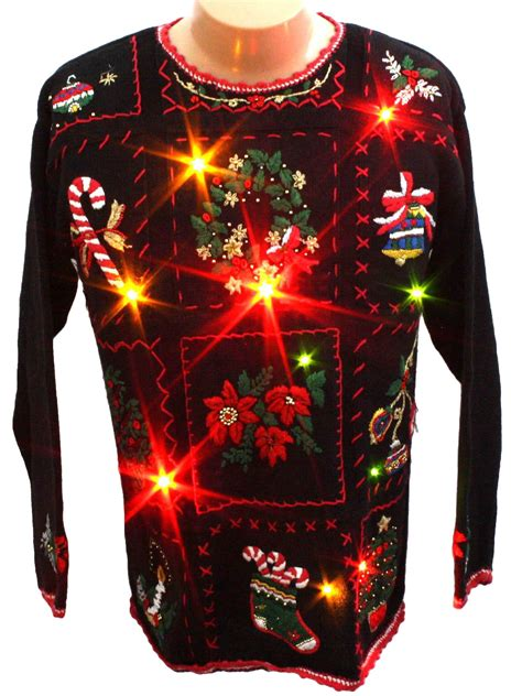 ugly light up christmas sweaters light up ugly christmas sweater work in progress unisex