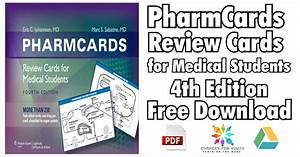 Pharmcards Review Cards For Medical Students 4th Edition
