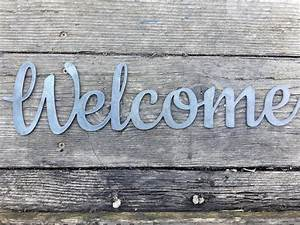 2, Ft, Metal, Welcome, Sign-, Business, Welcome, Sign
