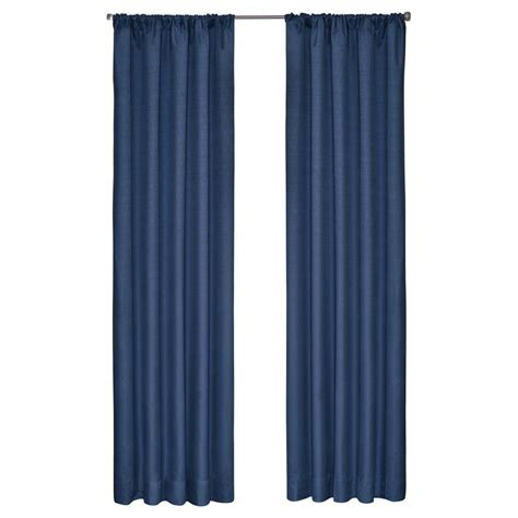 eclipse kendall blackout denim curtain panel 84 in