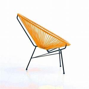 Fauteuil Jardin Design : fauteuil de jardin scoubidoo design orange ~ Preciouscoupons.com Idées de Décoration