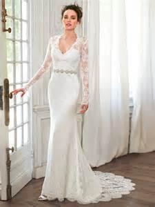 vestido de novia wedding dress v neck lace sleeve mermaid wedding dress 2016 new design wedding gowns vestidos de