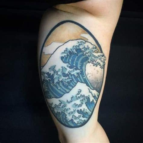 tatouage vague hokusai  tatouages puissants vague