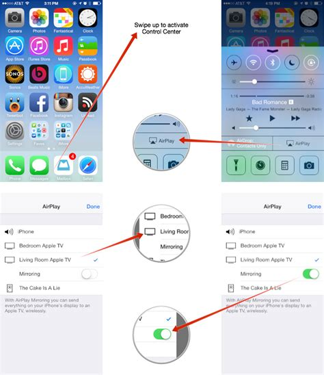 mirror iphone to tv how to use airplay to mirror your iphone or screen to