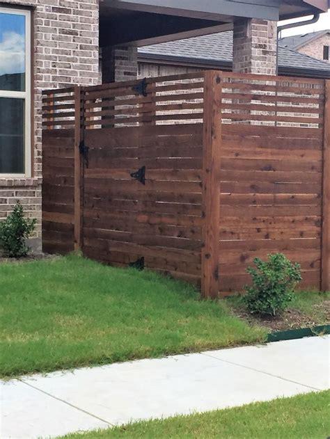 custom cedar horizontal fence installed  titan fence supply company horizontal fence