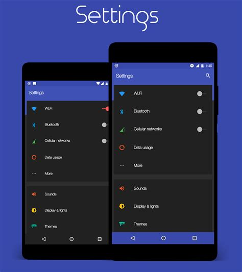 color themes for android colors cm12 12 1 13 theme android apps on play
