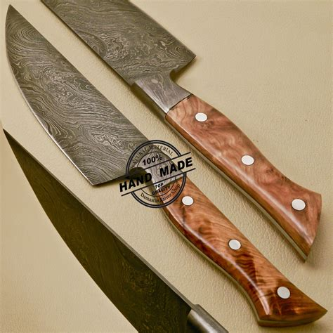 made kitchen knives damascus kitchen knife custom handmade damascus kitchen