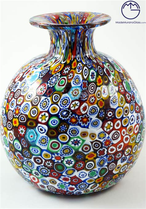 ladario in vetro di murano venetian glass vase with murrina millefiori venetian