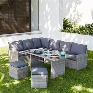 Matara Rattan Effect 7 Seater Corner Garden Sofa Set at ...