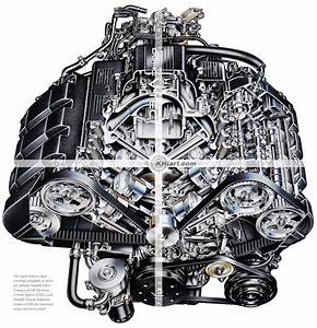 Acura Nsx Engine Cutaway Illustration