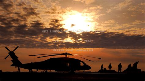 Sunset Aircraft Military Helicopters Vehicles Uh-60 Black Hawk