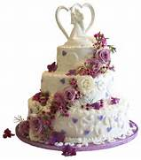 Purple Wedding Cake Clip Art  on transparent background birthday  Birthday Cake Transparent Background