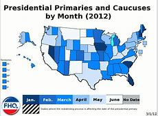 Frontloading HQ The 2012 Presidential Primary Calendar