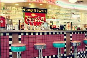 Retro Diner Photograph by Sylvia Cook