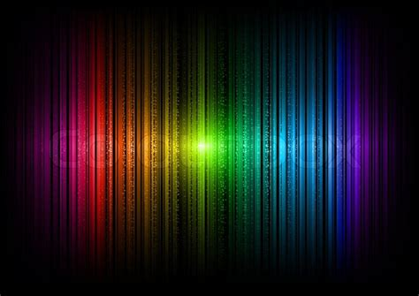rainbow lines  dots   dark stock vector