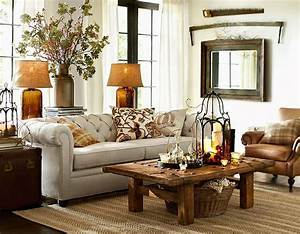 Looking simple and cozy with pottery barn living room for Pottery barn living rooms