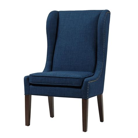 harlow captains dining chair navy upholstered wood