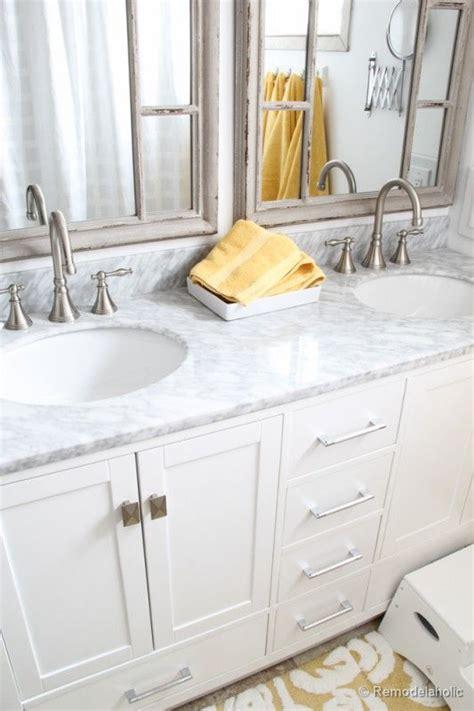 single sink vanity to double sink updated bathroom single sink vanity to double sink
