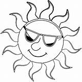 Coloring Sun Sunglasses Summer Wearing Template Pages Fun Toddlers Wecoloringpage Flower Tremendous Results sketch template